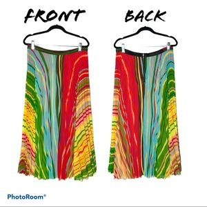 Soft Surroundings Pleated Colorful Skirt